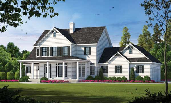 Modern-farmhouse Style Home Design Plan: 10-1198
