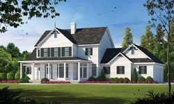 Modern-Farmhouse Style Home Design Plan: 10-1198