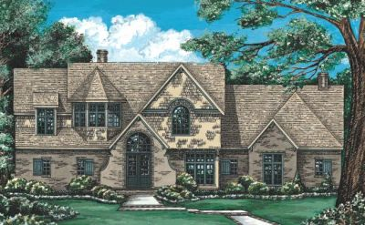 French-country Style House Plans Plan: 10-1199
