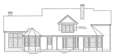 Rear Elevation Plan: 10-1199