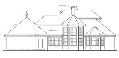Rear Elevation Plan: 10-1200