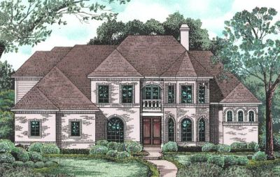European Style House Plans Plan: 10-1201