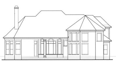 Rear Elevation Plan: 10-1201