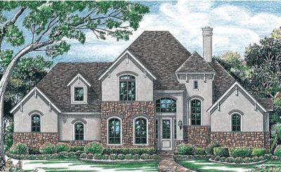 European Style House Plans Plan: 10-1202