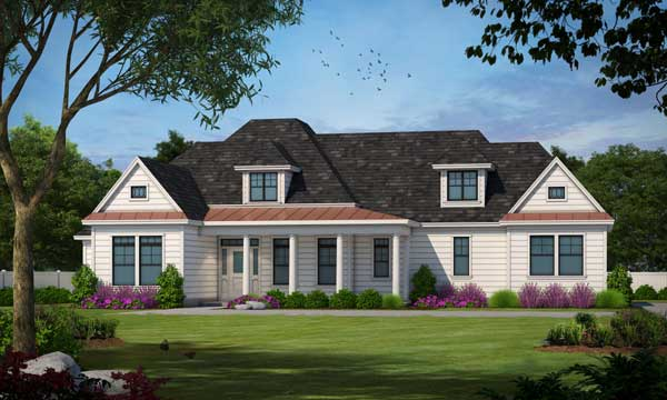 Country Style Home Design Plan: 10-1203