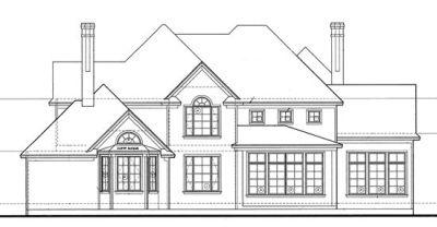 Rear Elevation Plan: 10-1205