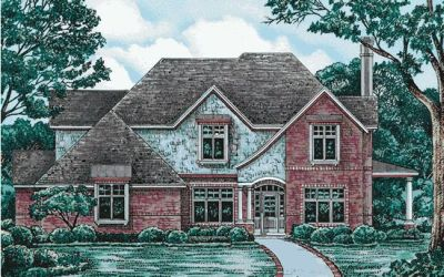 French-country Style House Plans Plan: 10-1206