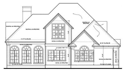 Rear Elevations Plan:10-1207