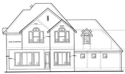 Rear Elevation Plan: 10-1208