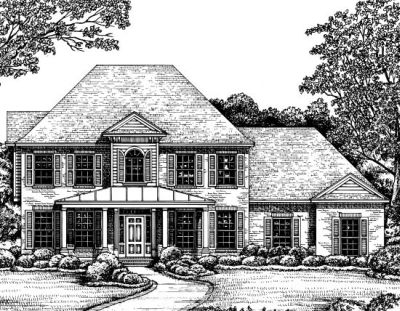 Southern Style Home Design Plan: 10-1209