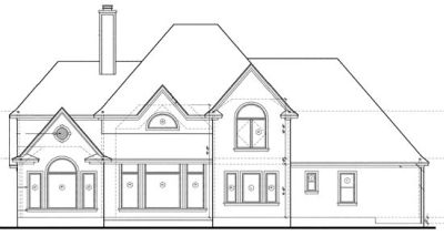 Rear Elevation Plan: 10-1213