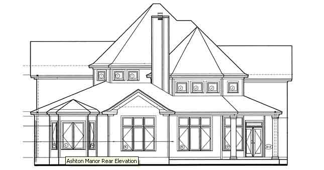 Rear Elevation Plan: 10-1214