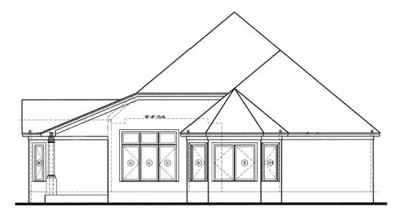 Rear Elevation Plan: 10-1217
