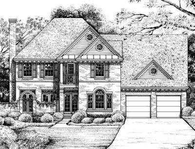 European Style Home Design Plan: 10-1218