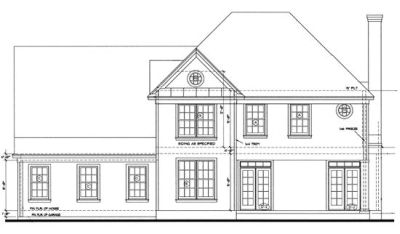 Rear Elevation Plan: 10-1218