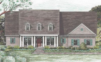Southern Style Floor Plans Plan: 10-1221