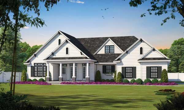 Modern-farmhouse Style Home Design Plan: 10-1223