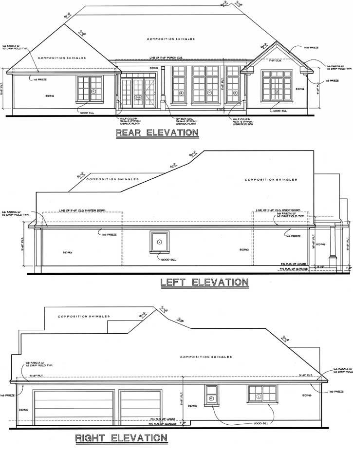 Rear Elevation Plan: 10-1223