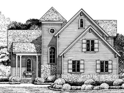 Farm Style Home Design Plan: 10-1224