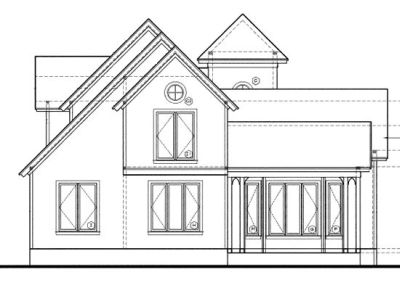 Rear Elevation Plan: 10-1224