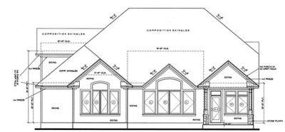 Rear Elevation Plan: 10-1226