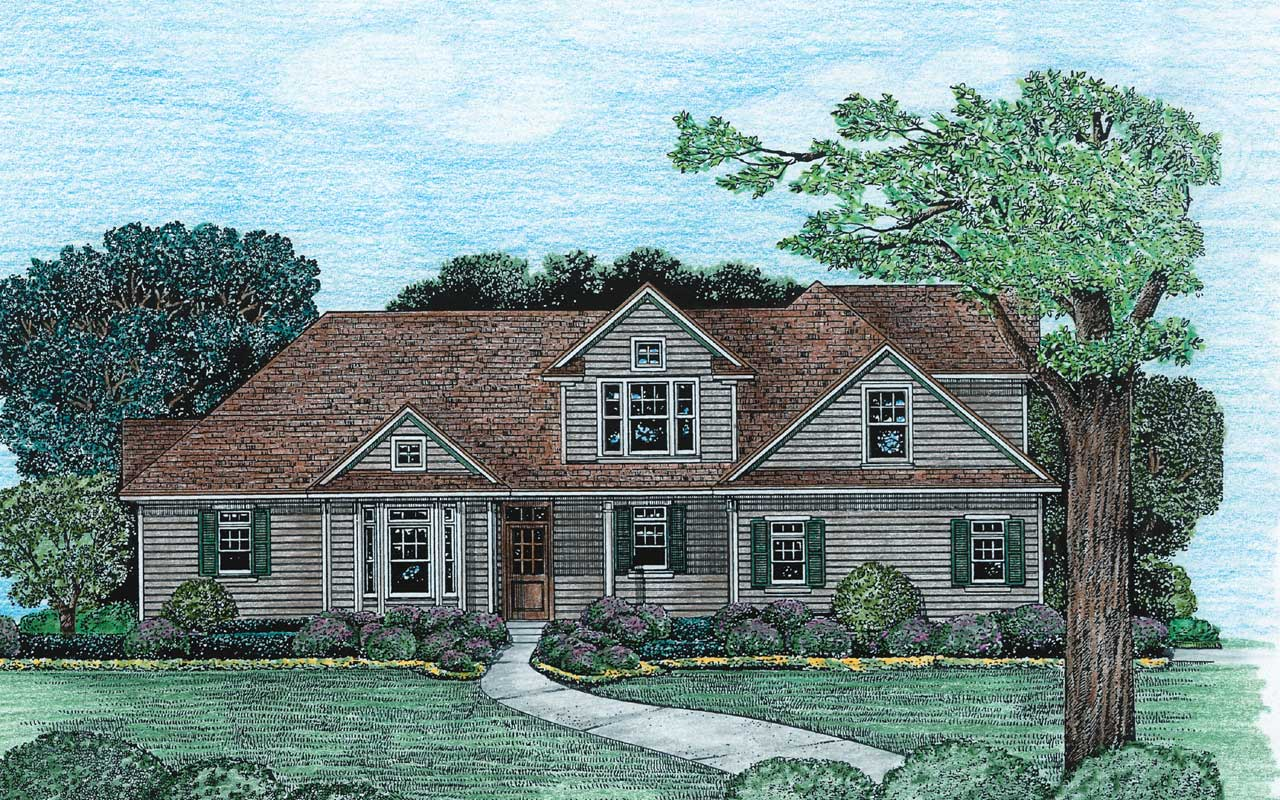 Country Style Floor Plans Plan: 10-1227