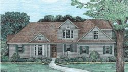 Country Style Home Design Plan: 10-1227