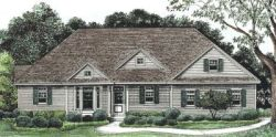 Ranch Style Home Design Plan: 10-1230