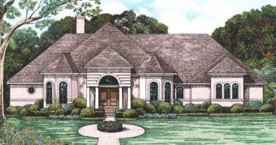 Mediterranean Style Home Design Plan: 10-1231