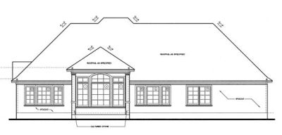 Rear Elevation Plan: 10-1232