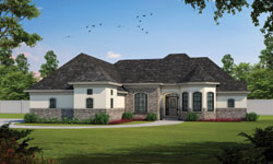 European Style Home Design Plan: 10-1232