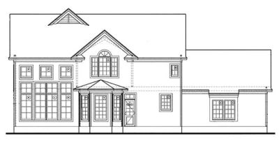 Rear Elevation Plan: 10-1234