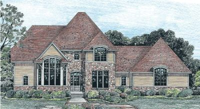 French-country Style House Plans Plan: 10-1235