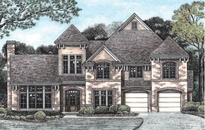 European Style Home Design Plan: 10-1236