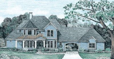 Country Style Floor Plans Plan: 10-1237