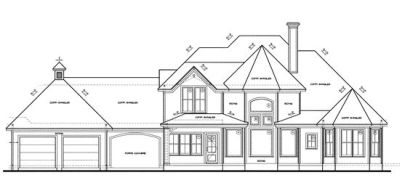 Rear Elevation Plan: 10-1237