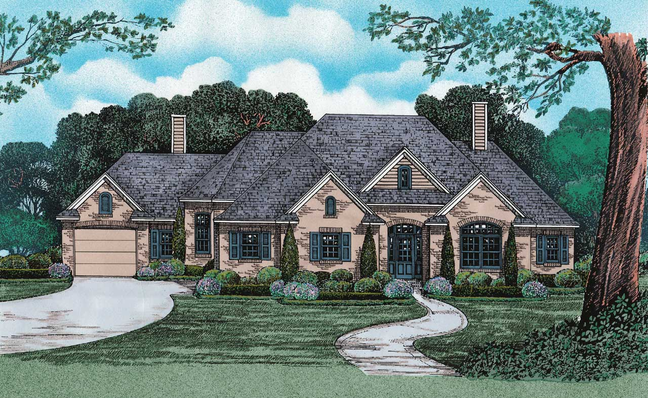 French-country Style Home Design 10-1239