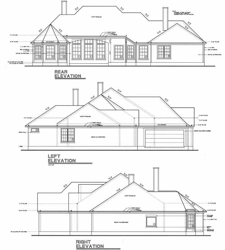 Rear Elevation Plan: 10-1239