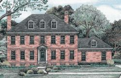 Early-American Style Floor Plans Plan: 10-1242