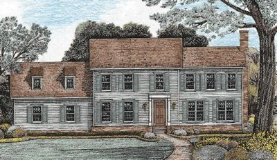Early-american Style House Plans Plan: 10-1243
