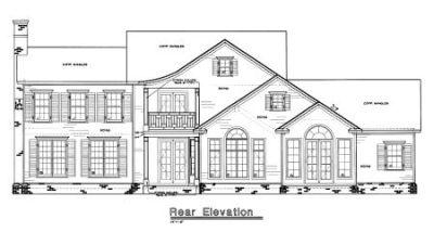 Rear Elevation Plan: 10-1243