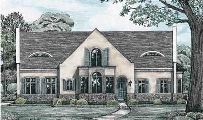 French-country Style House Plans Plan: 10-1244