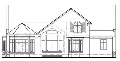 Rear Elevation Plan: 10-1244