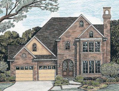 European Style House Plans Plan: 10-1245