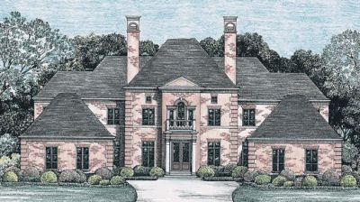 European Style Home Design Plan: 10-1247