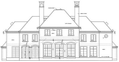 Rear Elevation Plan: 10-1247