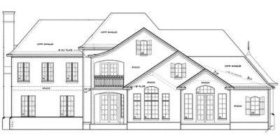 Rear Elevation Plan: 10-1249