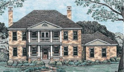 Southern Style Home Design Plan: 10-1250
