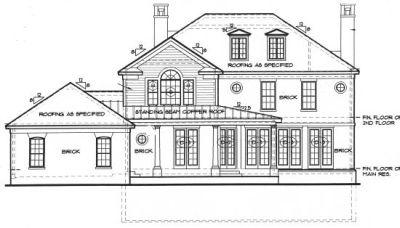 Rear Elevation Plan: 10-1250