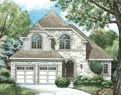 European Style Home Design Plan: 10-1252
